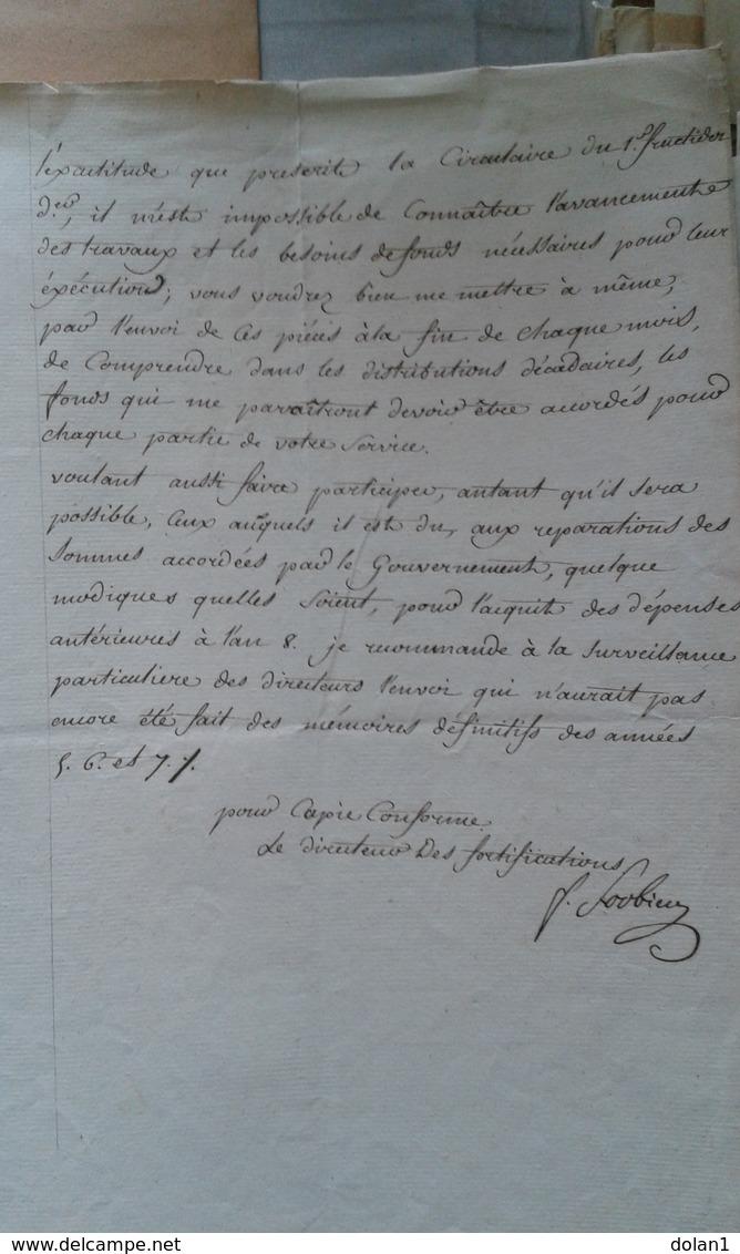 Service Du GÉNIE  Document Ancien (decret) - Documentos Históricos