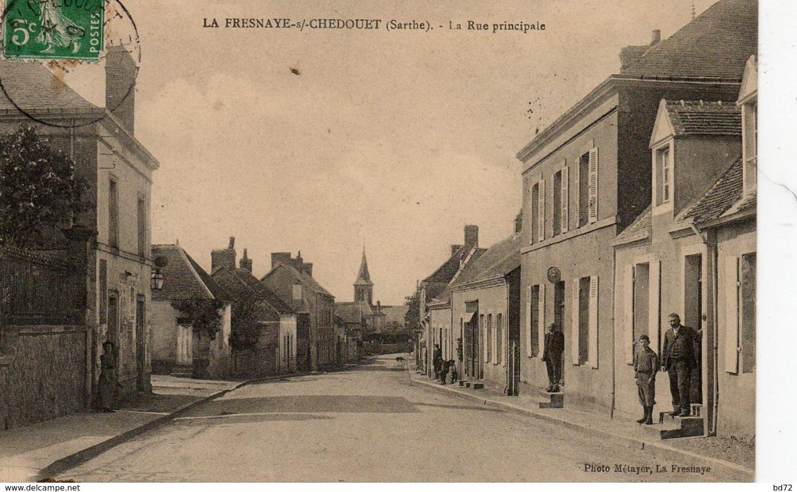 LA FRESNAYE SOUS CHEDOUET  ( 72 ) - La Rue Principale - Frankrijk