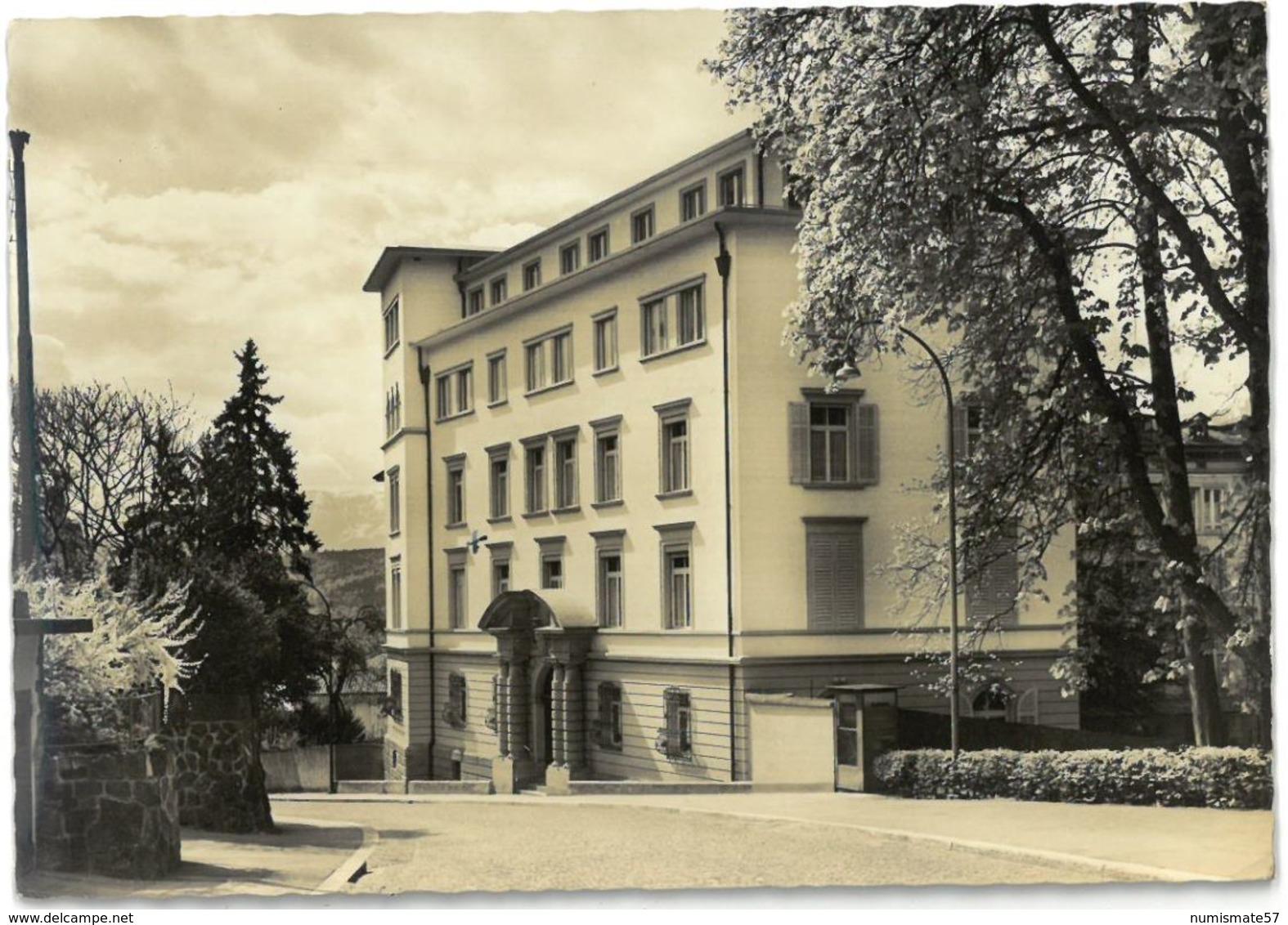 CPSM LUCERNE ( LUZERN ) - Institution SAINTE Agnès - Aile Abendweg - Foto U.Verlag O. Pfeifer - LU Lucerne