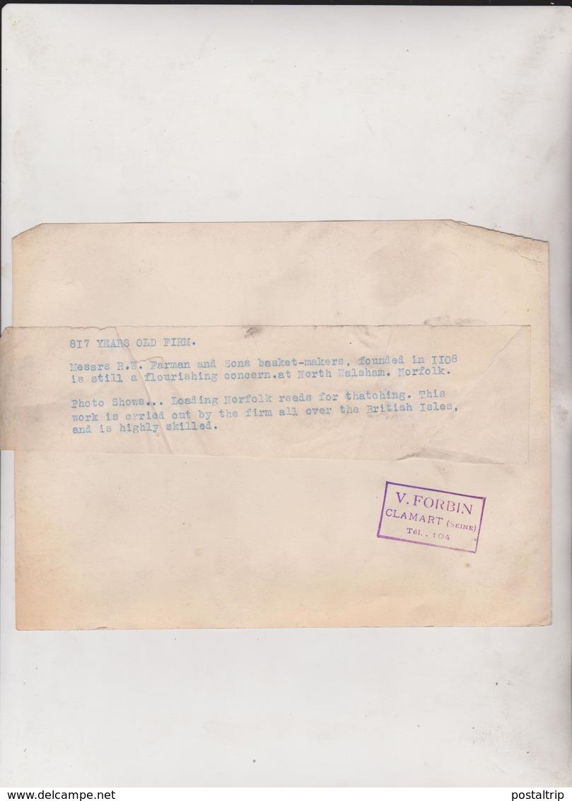 817 YEAR OLD FIRM BASKET MAKERS  NORTH WALSHAM NORFOLK BRITISH ISLES 20*15CM Fonds Victor FORBIN 1864-1947 - Mestieri