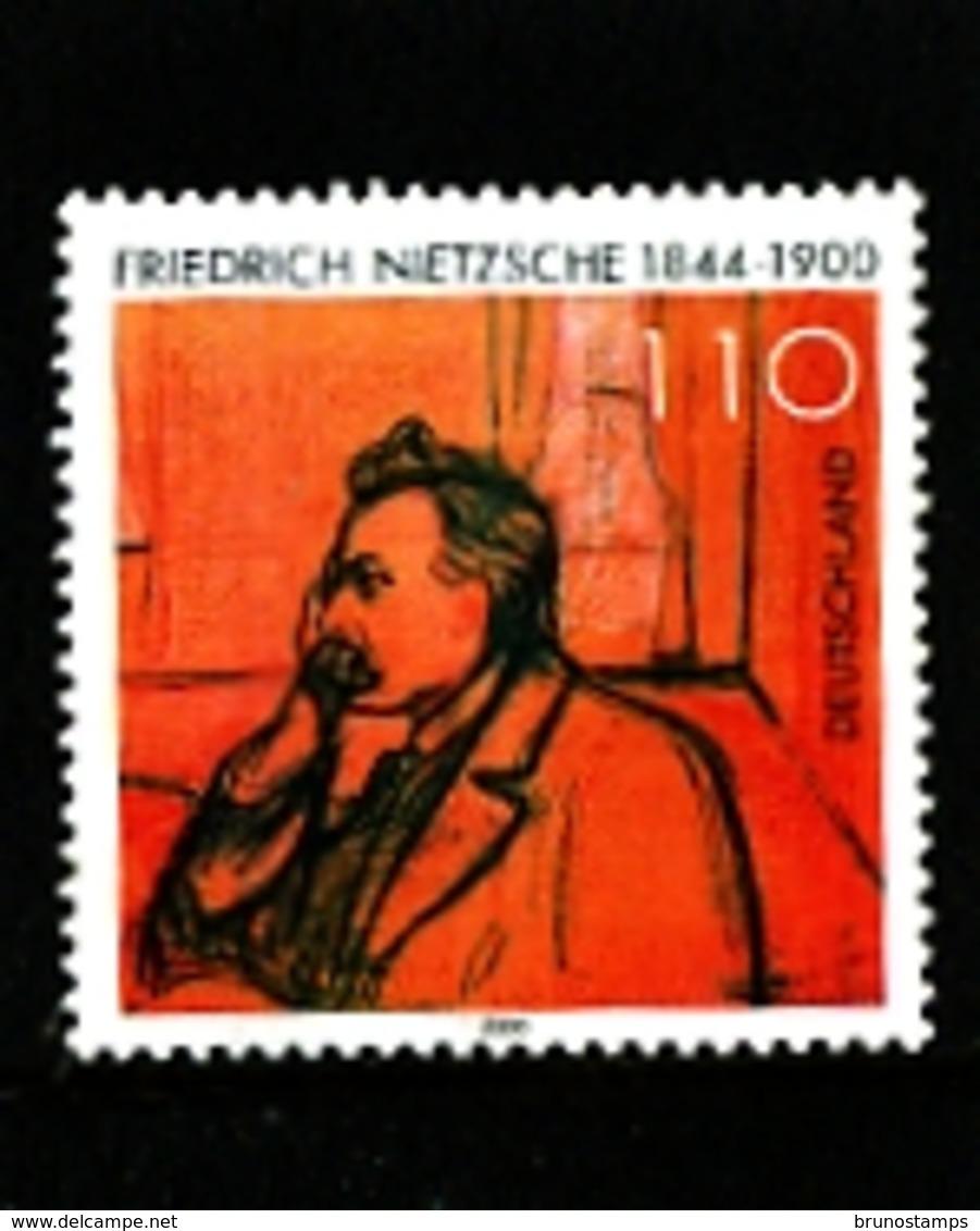 GERMANY/DEUTSCHLAND - 2000  F. NIETZSCHE  MINT NH - [7] Repubblica Federale