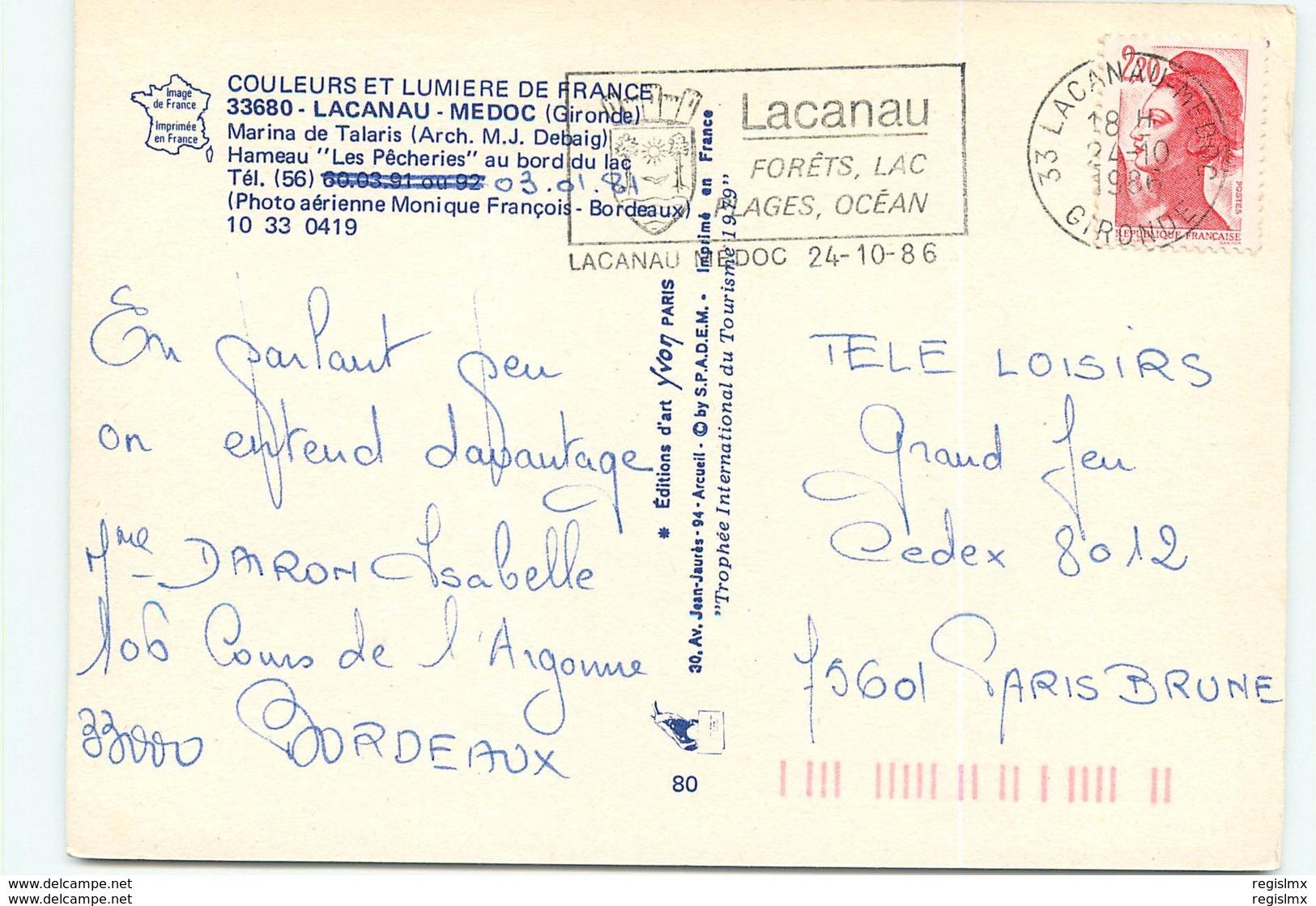 33-LACANAU-N°064-D/0064 - Autres Communes