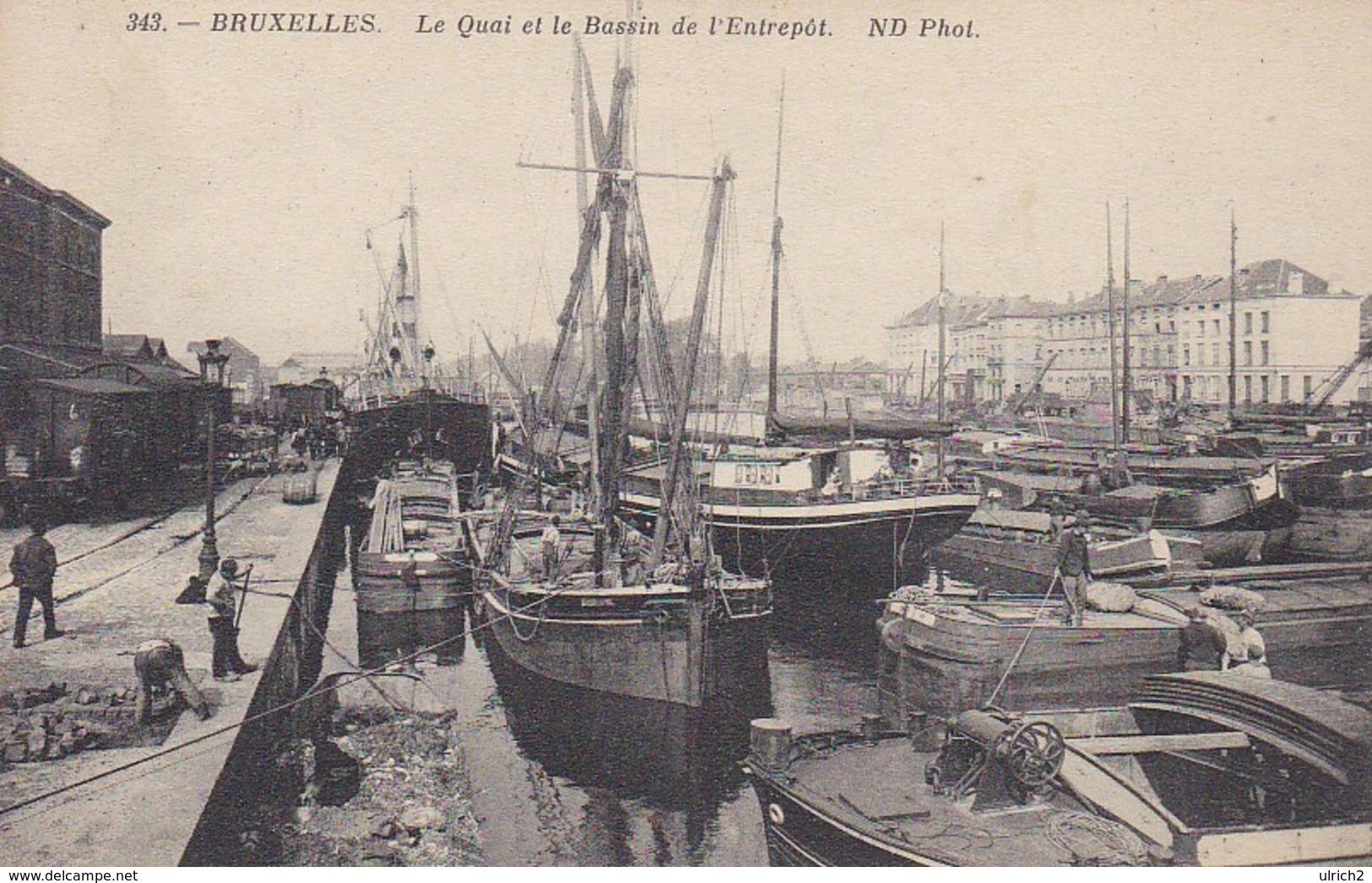 CPA Bruxelles - Le Quai Et Le Bassin De L'Entrepôt  (42908) - Transport (sea) - Harbour