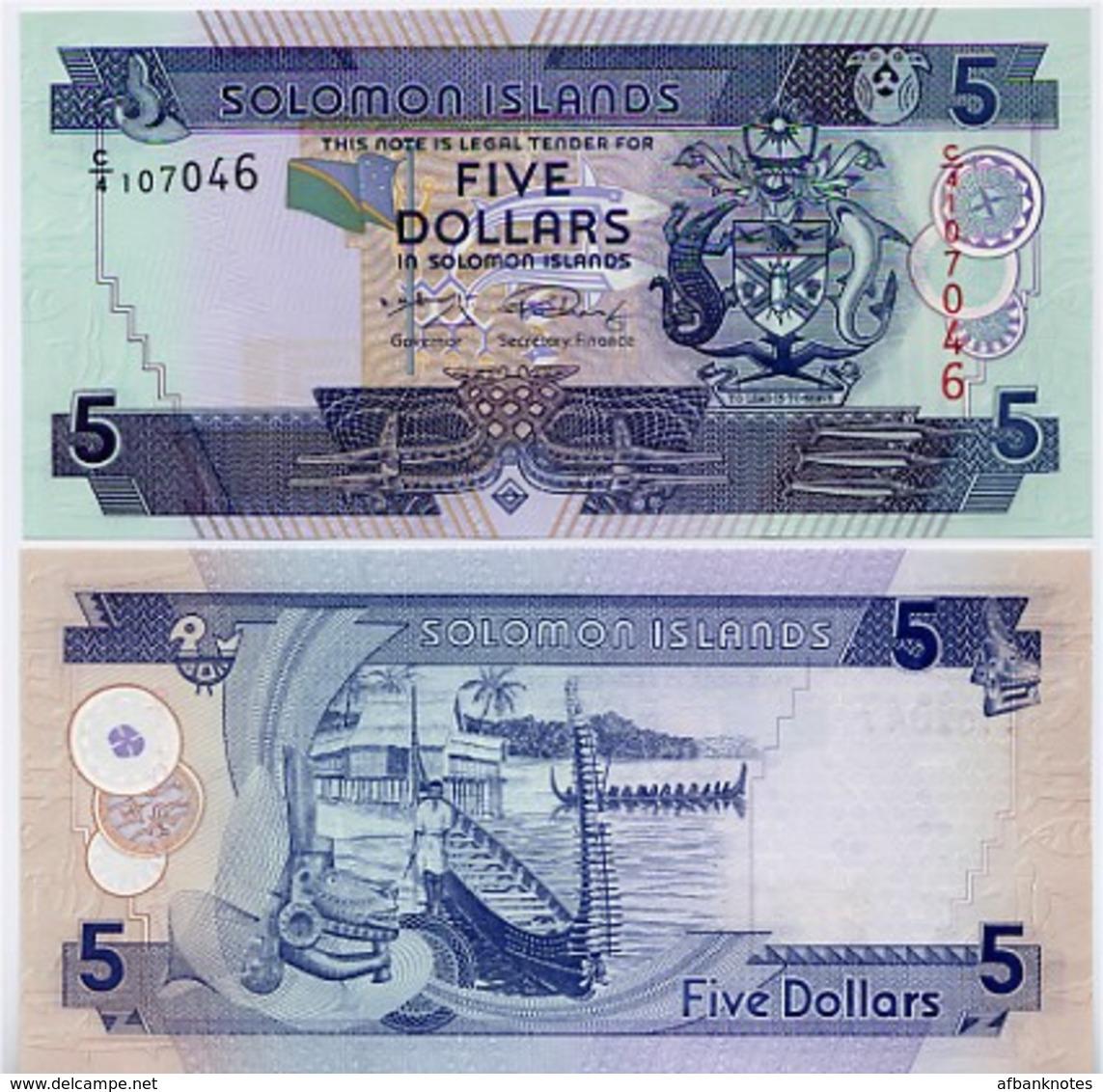 SOLOMON IS.         5 Dollars       P-26       ND (2008)       UNC  [ Sign. 9 ] - Salomonseilanden