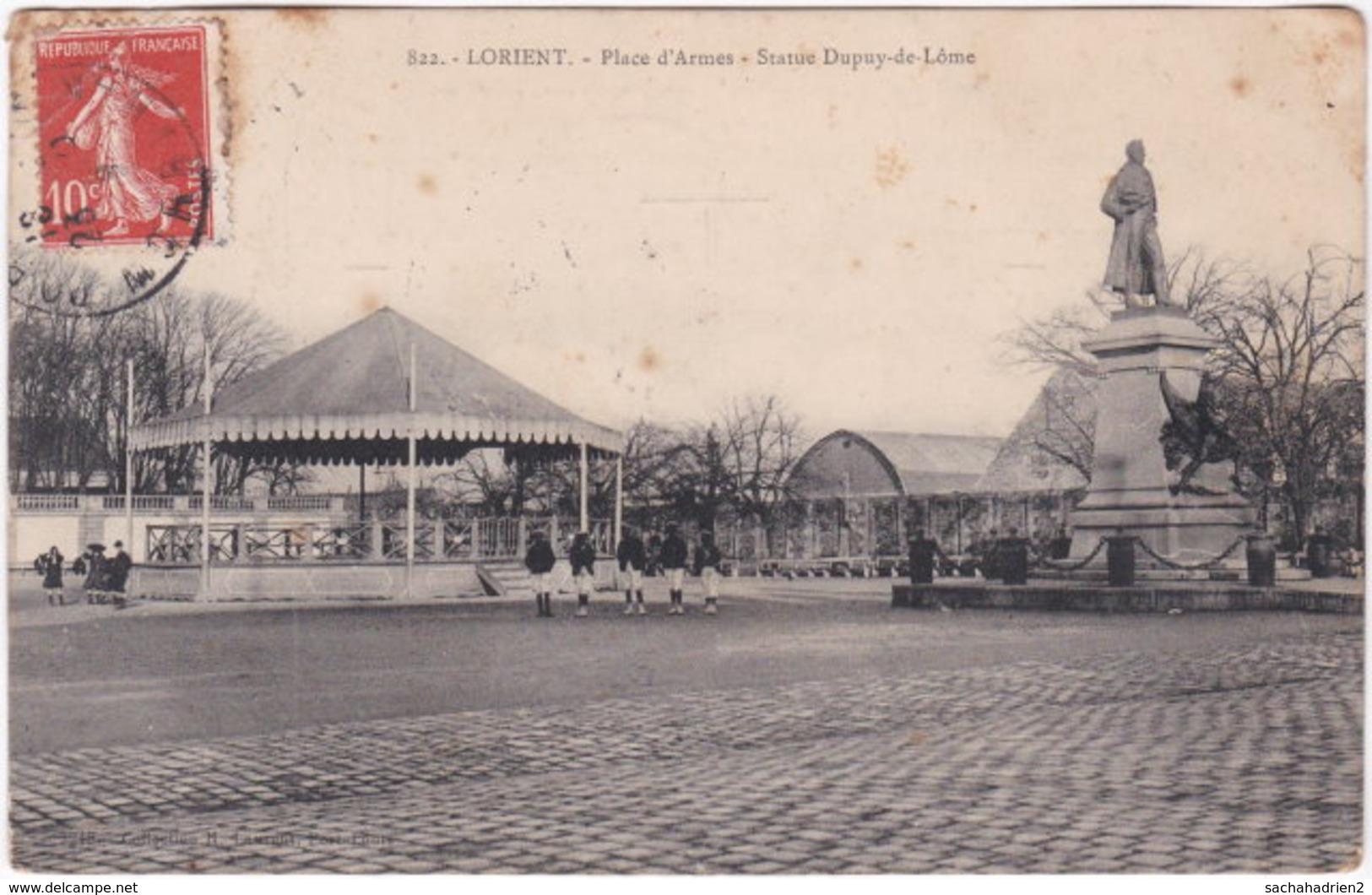 56. LORIENT. Place D'Armes. Statue Dupuy-de-Lôme. 822 - Lorient