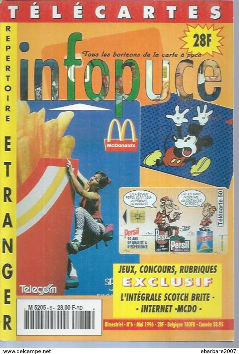 TELECARTES - INFOPUCE N° 6  - 1996 - Telefonkarten