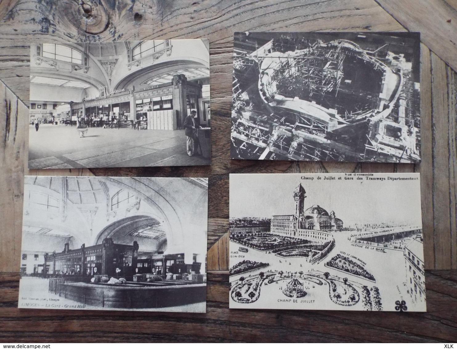 Limoges - Dépliant Carte - Cinquantenaire De La Gare De LIMOGES - BENEDICTINS - Limoges