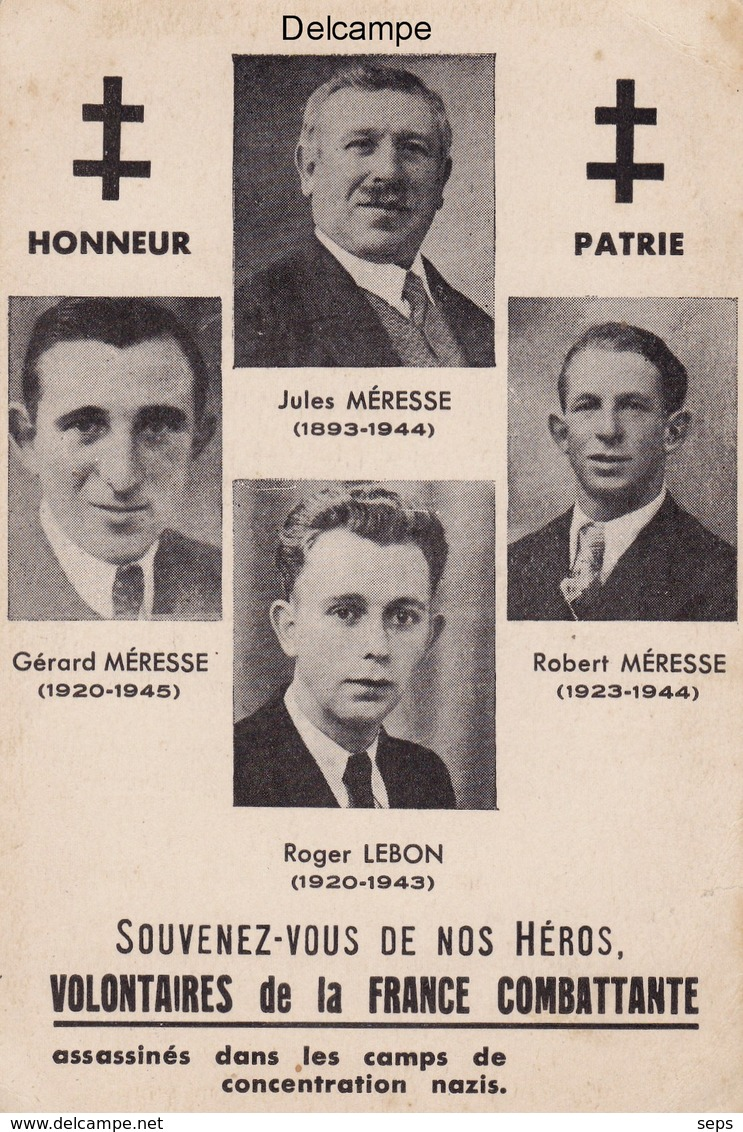 CP Inauguration Du Monument à La Mémoire Des Résistants - Cartignies 1947 - Autres Communes