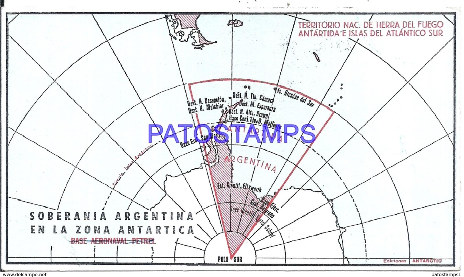 117458 ARGENTINA ANTARTIDA ANTARCTICA MAP CRUCERO LIBERTAD 1972 CIRCULATED TO BUENOS AIRES POSTCARD - Argentinien