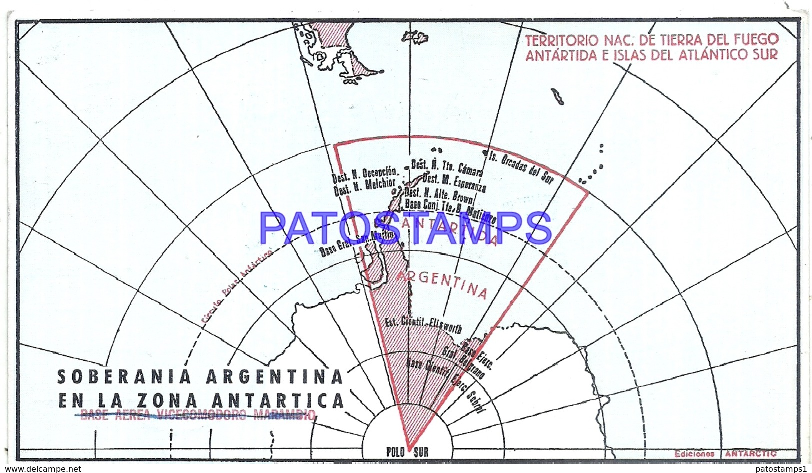 117459 ARGENTINA ANTARTIDA ANTARCTICA MAP CRUCERO LIBERTAD 1972 CIRCULATED TO BUENOS AIRES POSTCARD - Argentinien