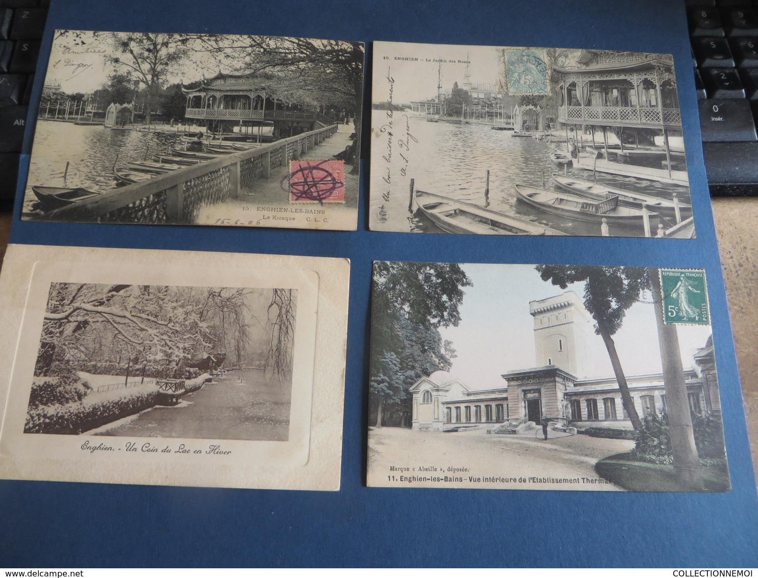 +++ De 15 Cartes D'ENGHIEN (pavillon Chinois Pliée) Lot 201 - Ansichtskarten