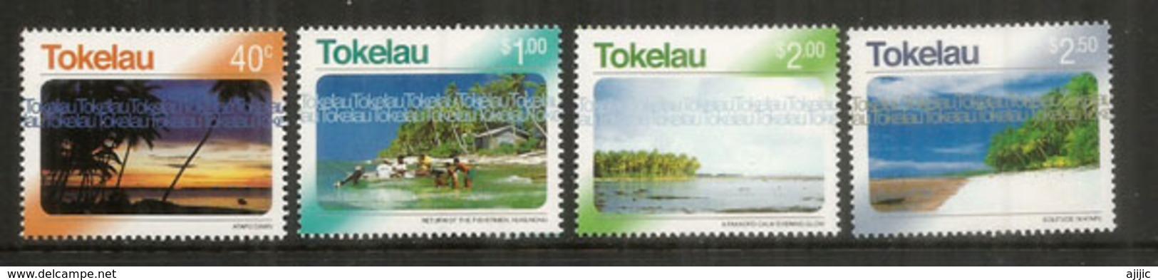 Paysages De Tokelau Islands,Tropical Coral Atolls. Océan Pacifique. 4 Timbres Neufs ** Année 2004 (hautes Faciales) - Tokelau