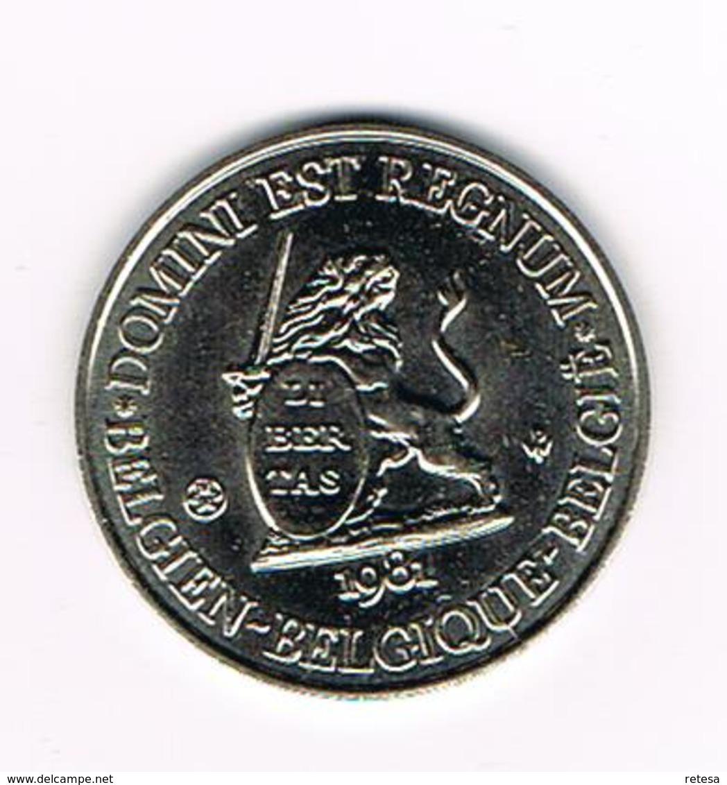// PENNING  DOMINI EST REGNUM  REGNUM BELGICALE  BRABANT 1981 - 3.000 EX. - Pièces écrasées (Elongated Coins)