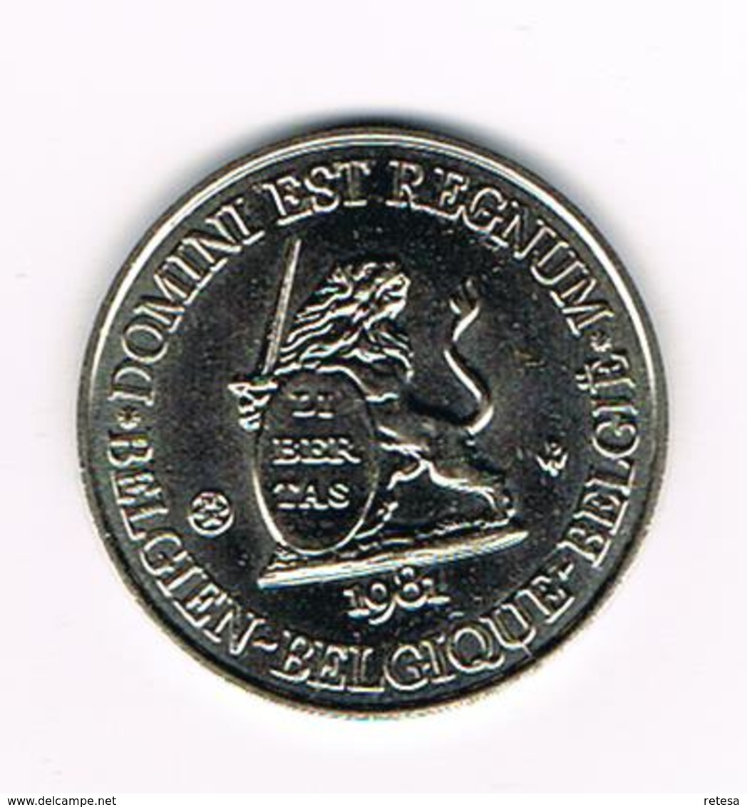 // PENNING  DOMINI EST REGNUM  REGNUM BELGICALE  BRABANT 1981 - 3.000 EX. - Monedas Elongadas (elongated Coins)