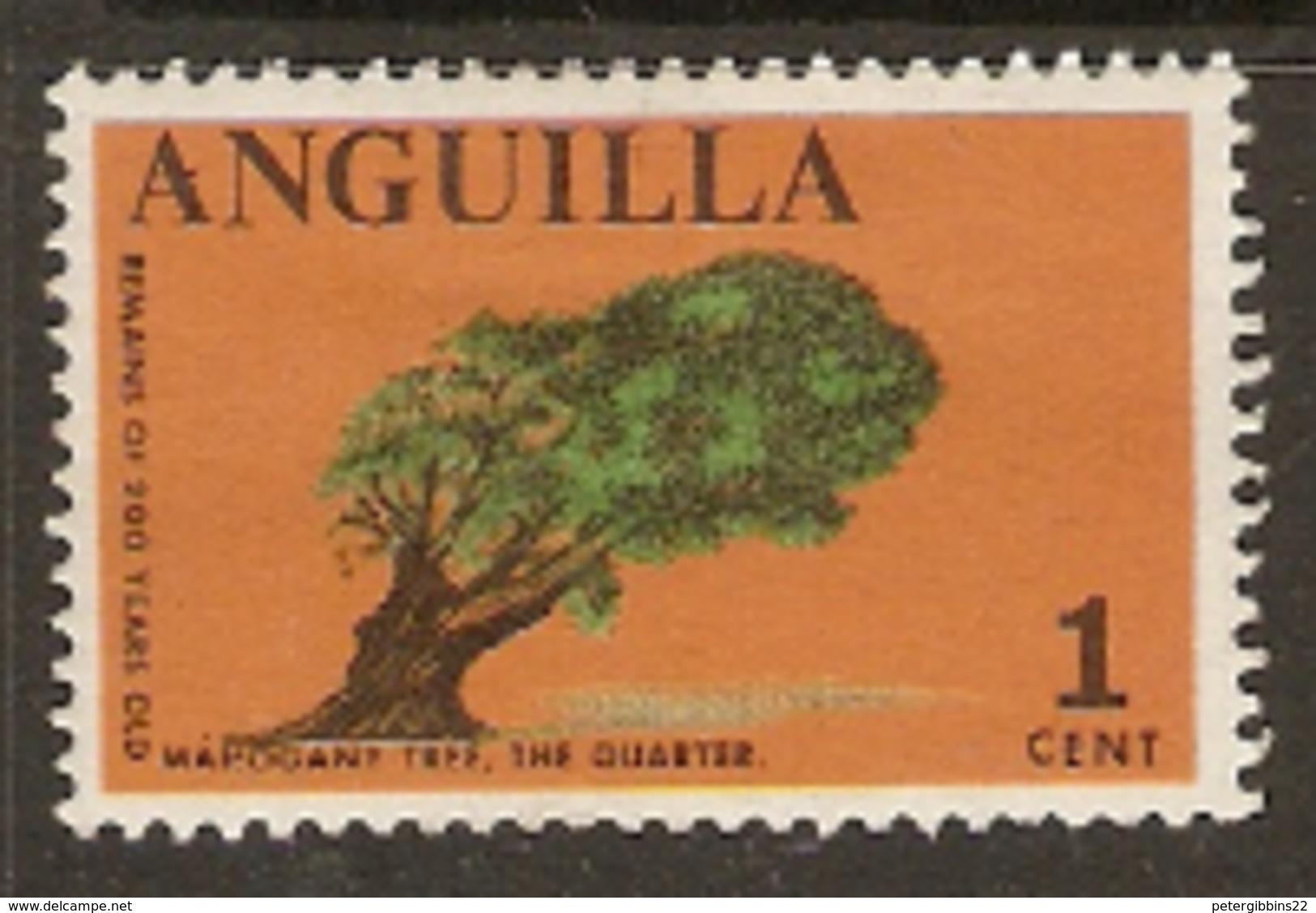 Anguilla  1967 SG  17  Mahoganay Tree  The Quarter  Mounted Mint - Anguilla (1968-...)