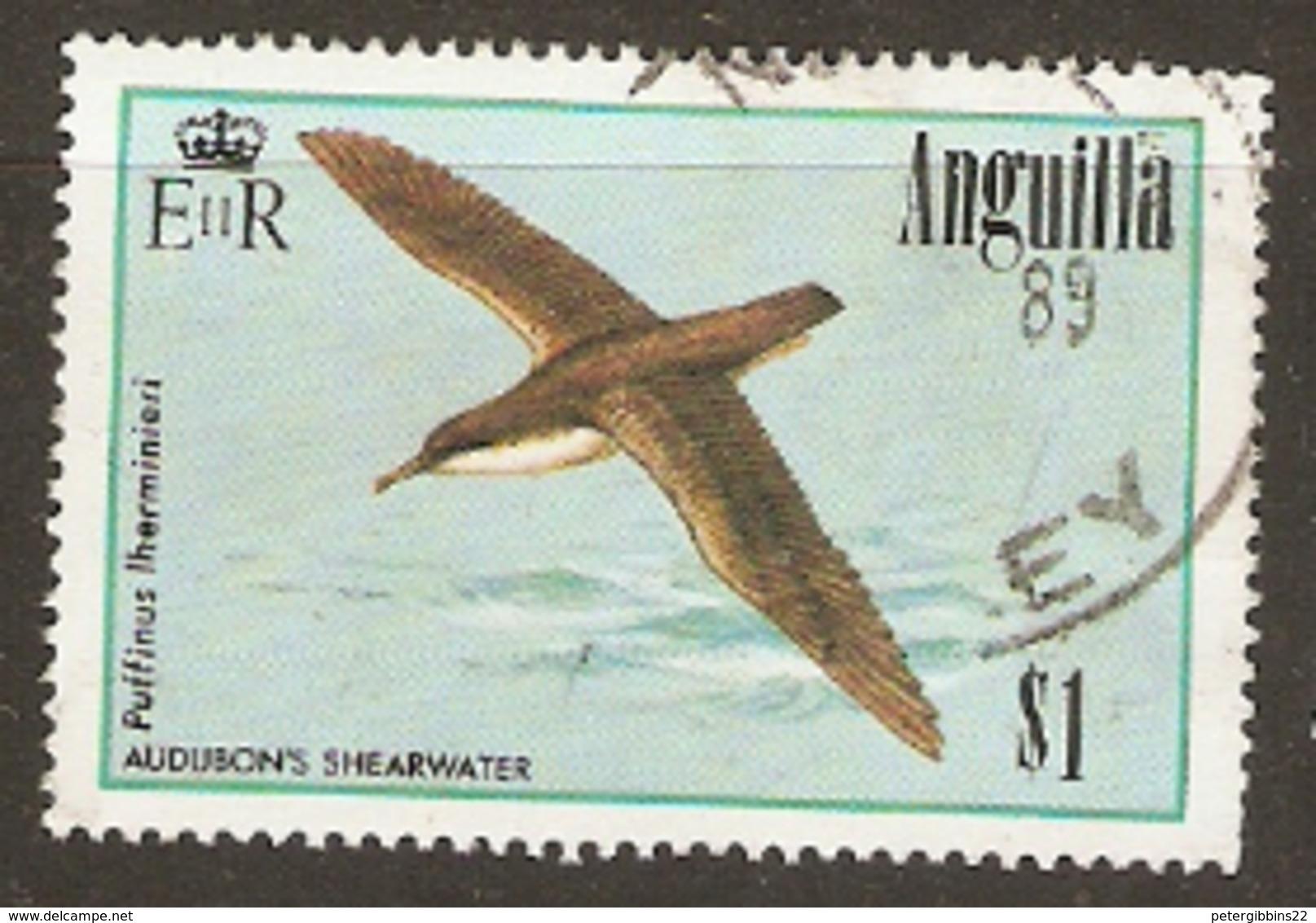 Anguilla  1985  SG 671  Audubon Sheerwater   Fine Used - Anguilla (1968-...)