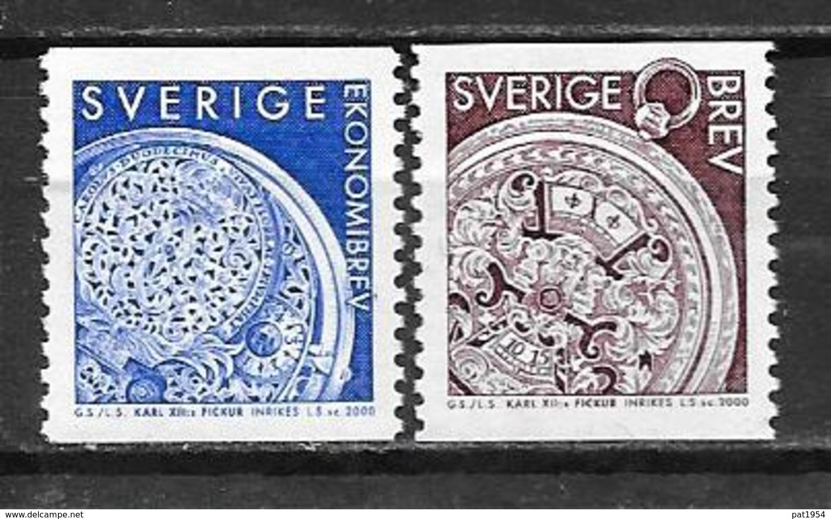 Suède 2000 2139/2140 Neufs Montre De Charles XII - Sweden