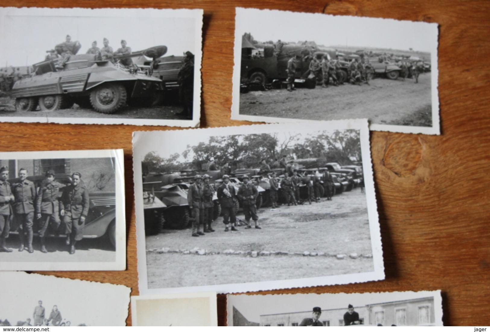 Lot De Photographies Ancienens Armée Française  Char Vehicules Automitrailleuses... - Guerra, Militares