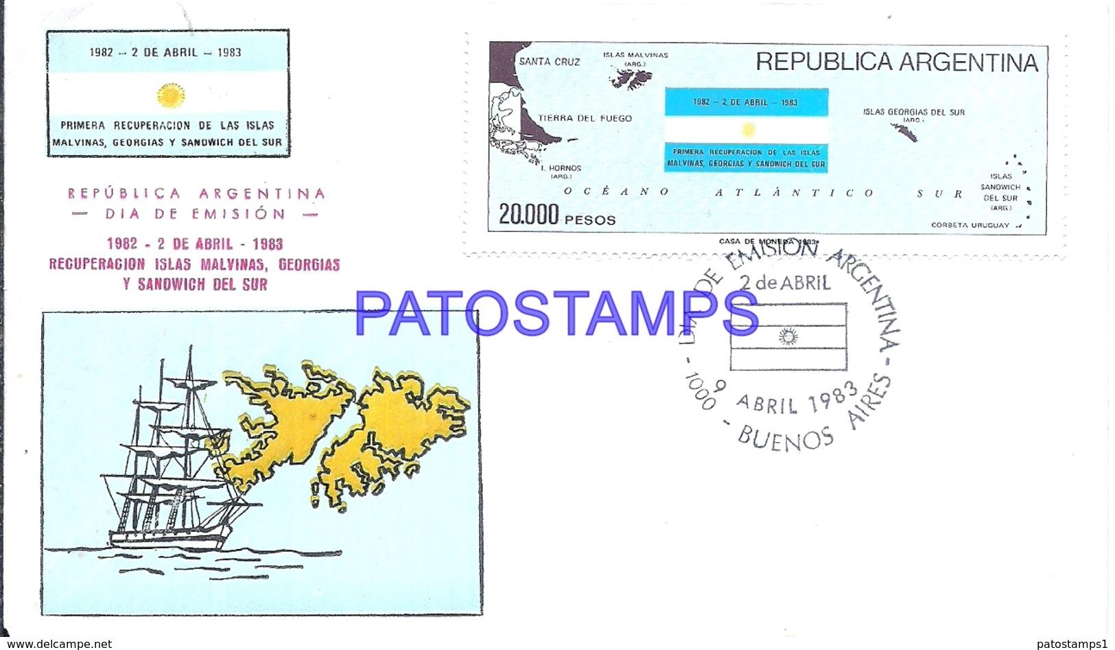 117495 ARGENTINA BUENOS AIRES COVER 1983 UK ISLAS MALVINAS FALKLAND ISLANDS GEORGIAS Y SANDWICH DEL SUR NO POSTCARD - Argentinien