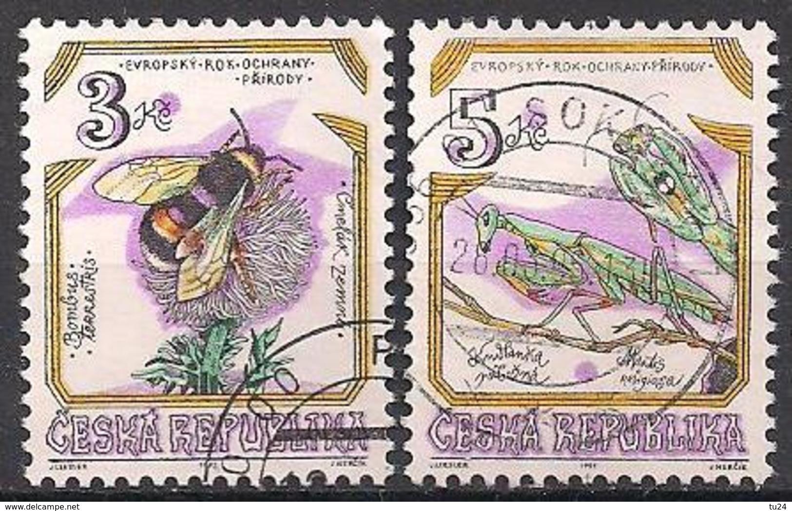 Tschechien  (1995)  Mi.Nr.  73 + 74  Gest. / Used  (6fc29) - Gebraucht