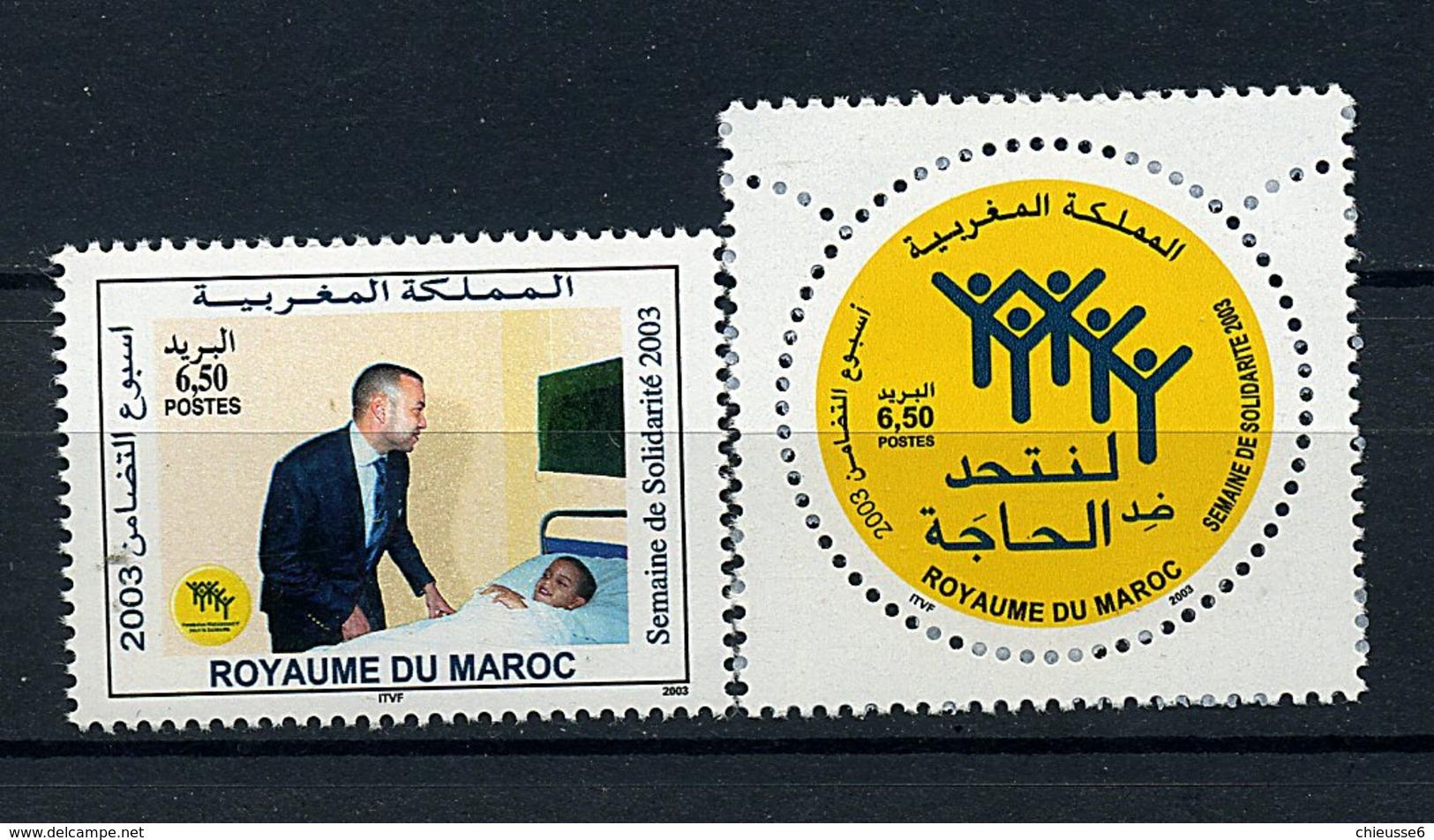 Maroc ** N° 1338/1339 - Semaine De La Solidarité - Morocco (1956-...)
