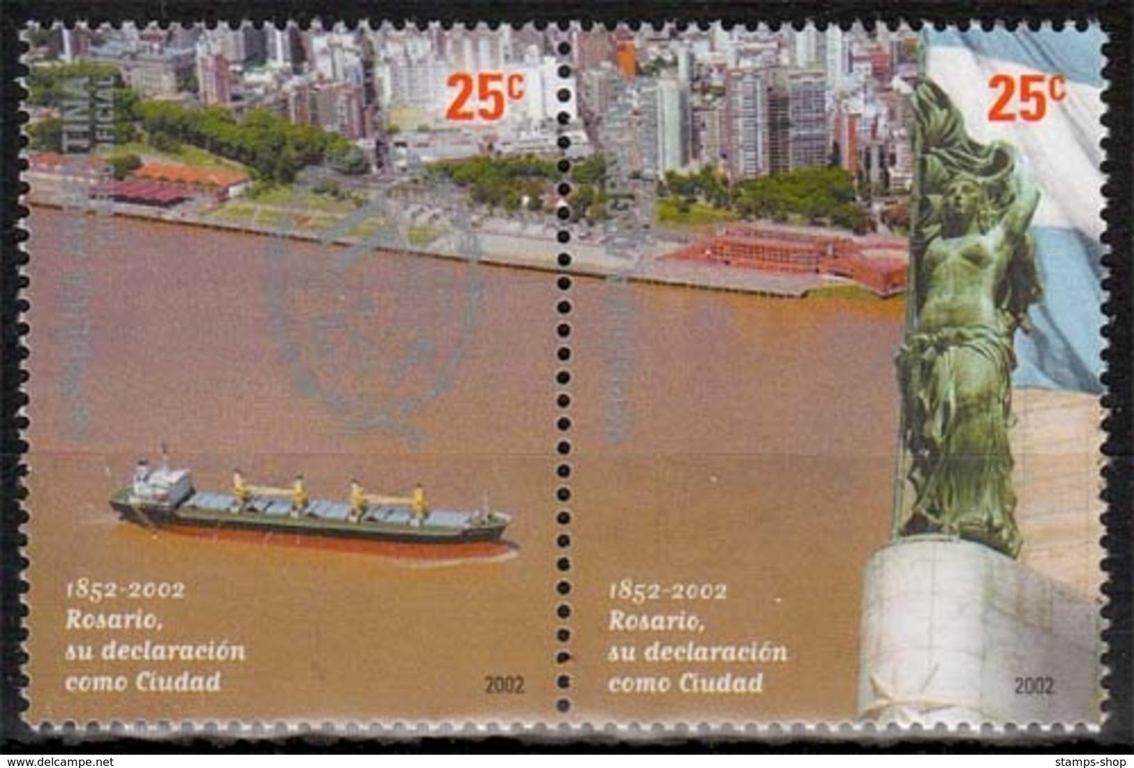 Argentinien MiNr. 2717/18 ** 150 Jahre Stadt Rosario - Ungebraucht
