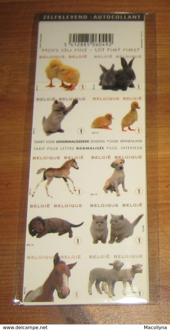 10 Boekjes 112** Lentedieren / 10 Carnets 112 MNH Animaux Jeunes- Uit Het Nest - COB 4004/13** Hors Du Nid / 100 TIMBRES - Booklets 1953-....