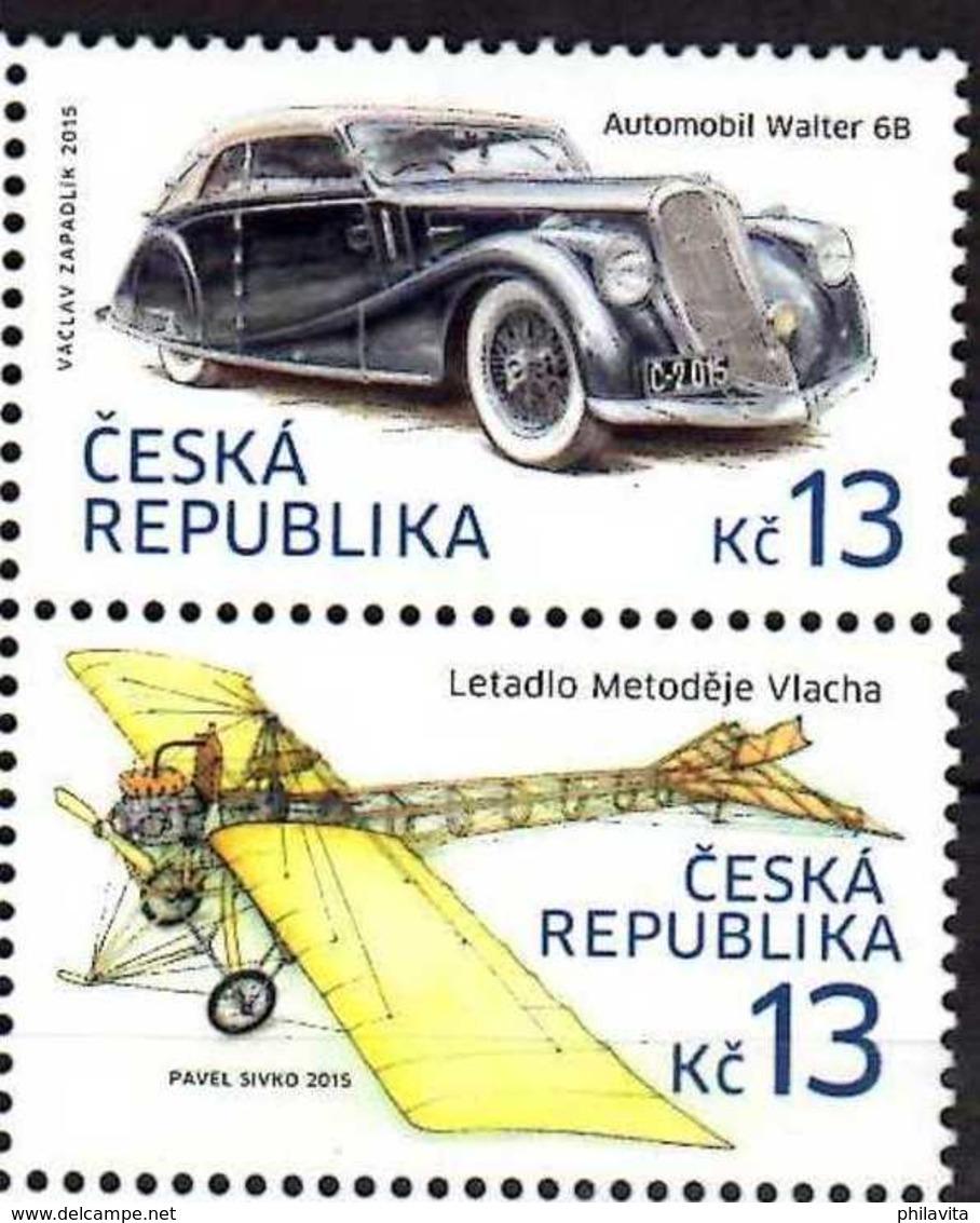 2015 Czech Rep. Hystorical Transports - Auto Walter B 6 / Plane By Mlach 2v Setetnant -MNH** MI 836/837 - Ungebraucht