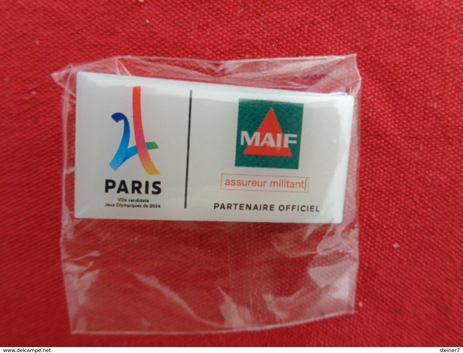 Pin's Paris MAIF Partenaire Officiel J O - Merken