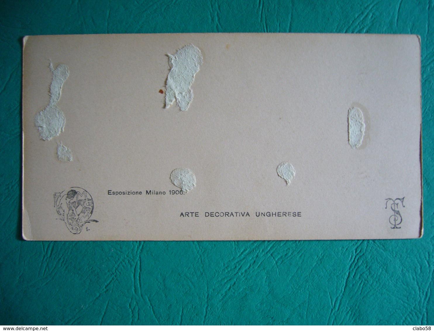 ESPOSIZIONE MILANO 1905  FOTO STEREOSCOPIO   ARTE DECORATIVA UNGHERESE - Stereoscopio
