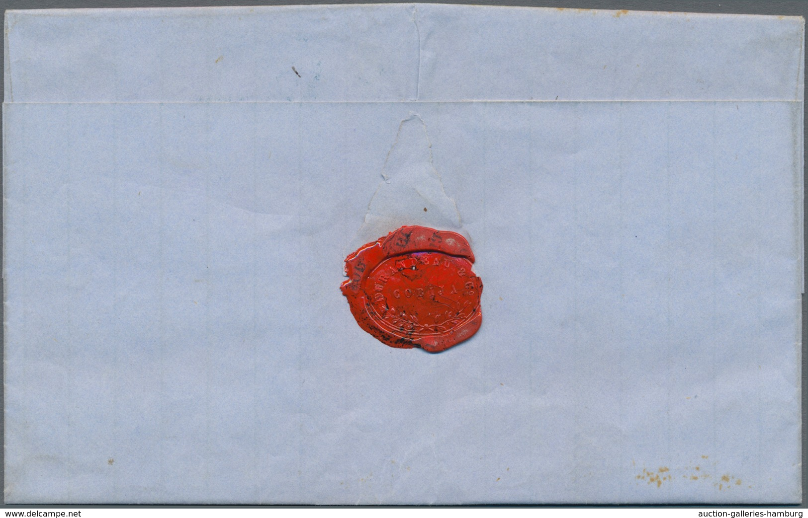 Bolivien: 1854, Folded Letter From COBITA To SUCRE Written On 28 May 1854. With Oval Forwarding Agen - Bolivien