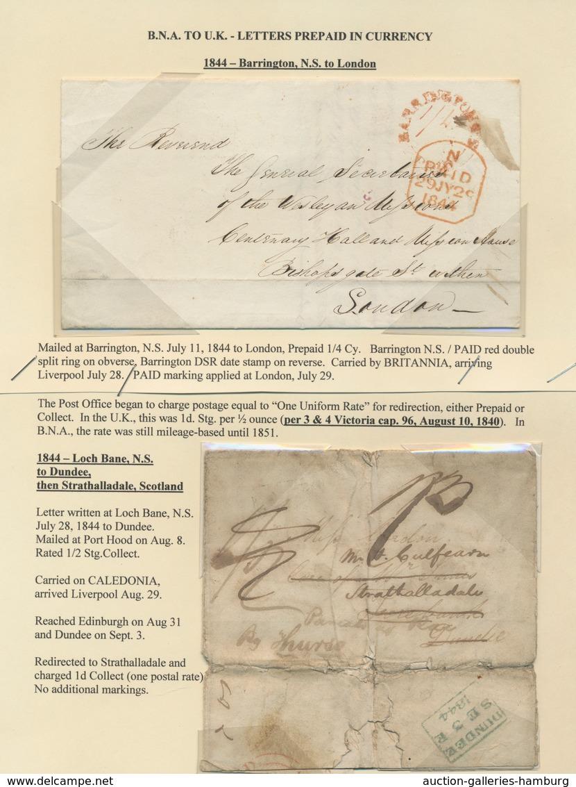 Canada - Vorphilatelie: 1841/1848, Group Of Seven Tansatlantic Covers To Europe, Showing Various Pos - Kanada