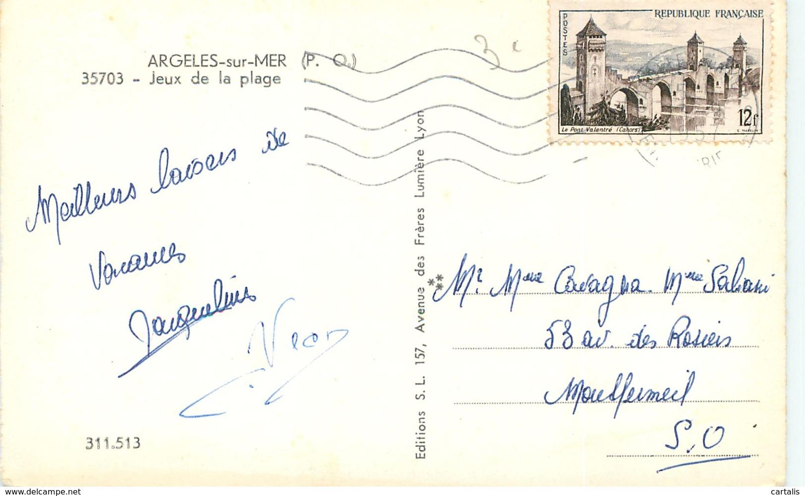 66-ARGELES SUR MER-N°C-3012-B/0357 - Argeles Sur Mer
