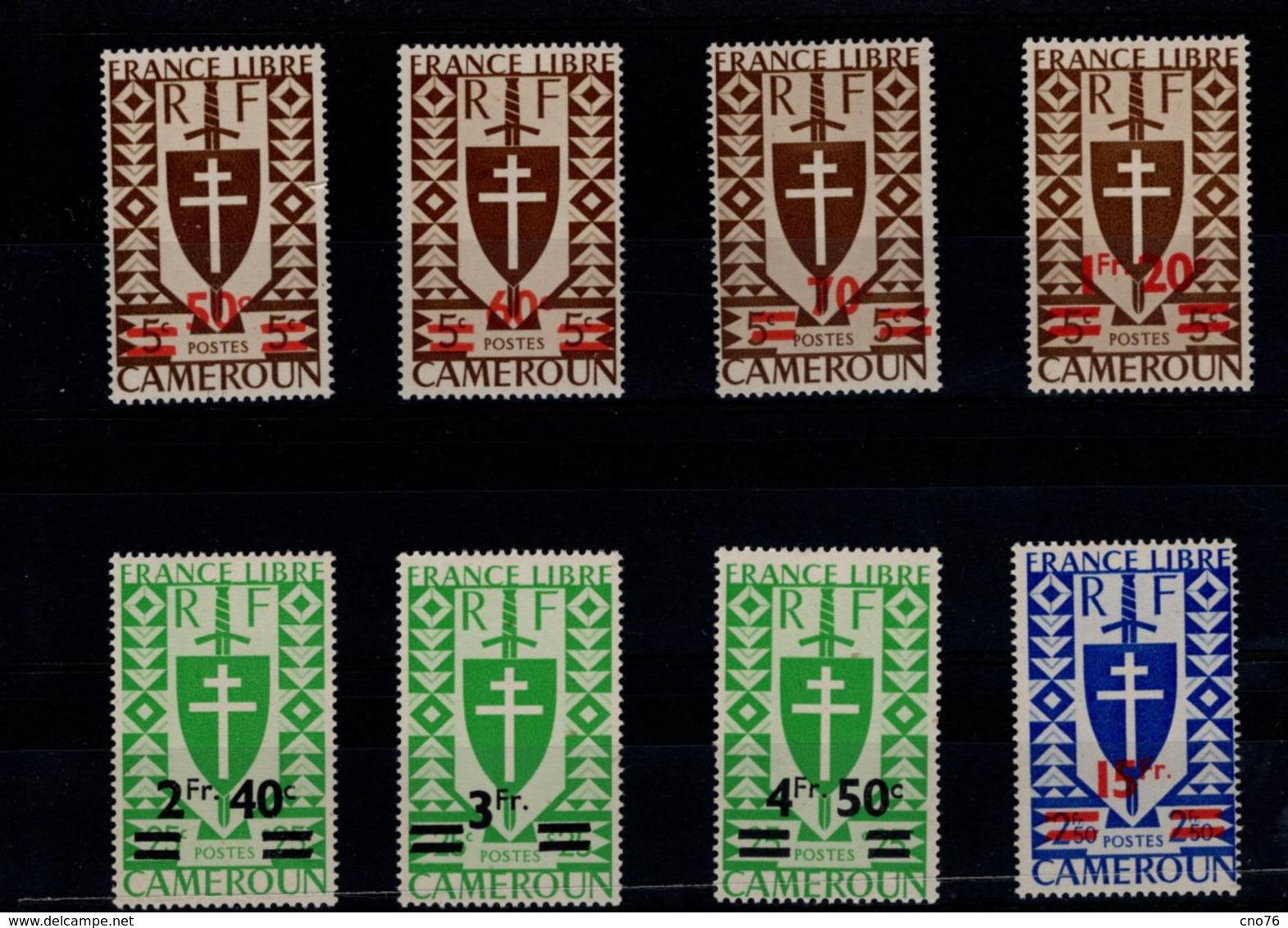 Cameroun 1945 N° 266 à 273 Timbres Neufs ** 8 Valeurs - Neufs