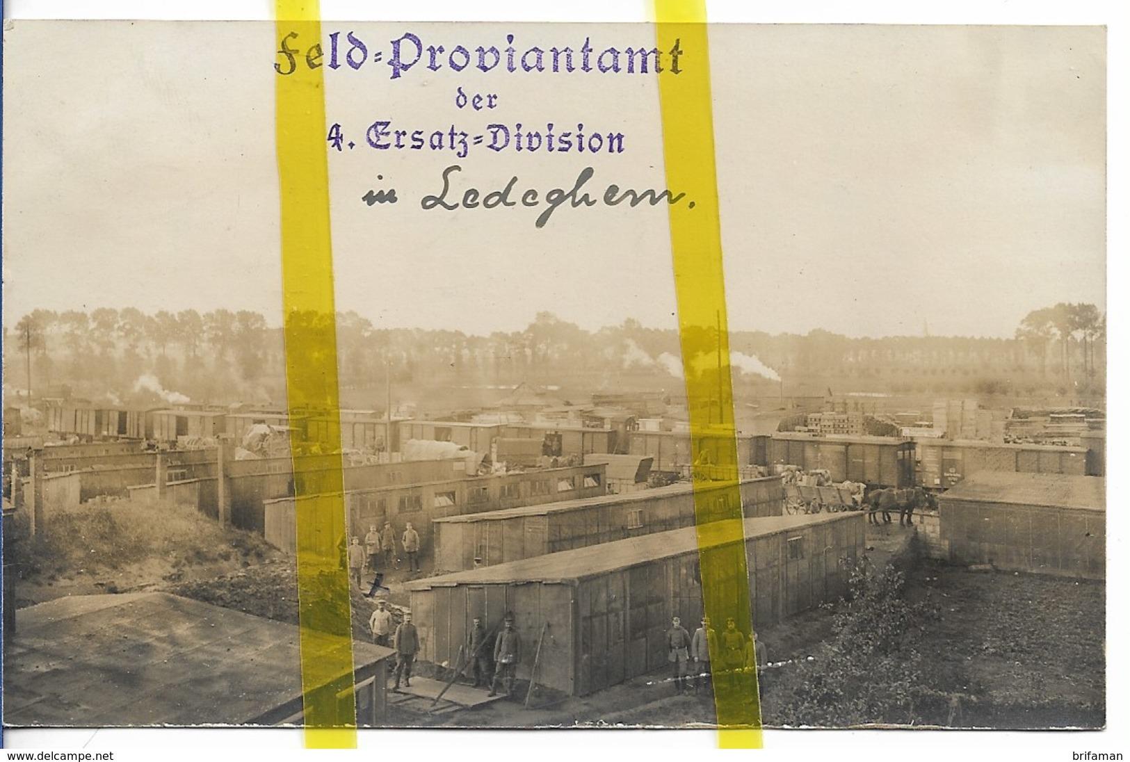 BELGIQUE FLANDRE LEDEGEM CARTE PHOTO ALLEMANDE MILITARIA 1914/1918 WK1 WW1 - Ledegem