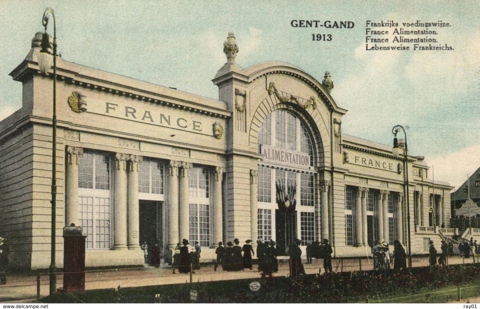 BELGIQUE - FLANDRE ORIENTALE - GENT - GAND - 1913 - France Alimentation - Frankrijks Voedingswijze. - Expositions