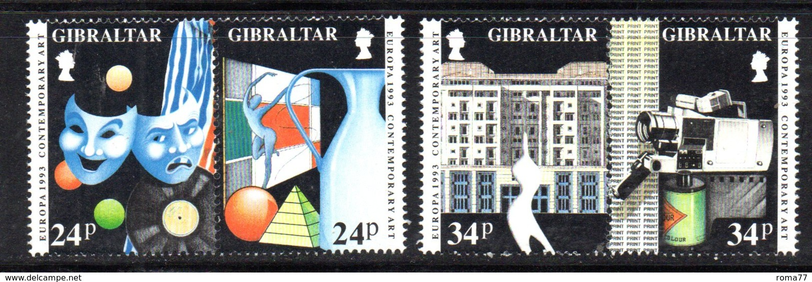 GIBILTERRA 1993 ,  Serie N. 666/669  MNH  ***  Europa Cept - Gibilterra