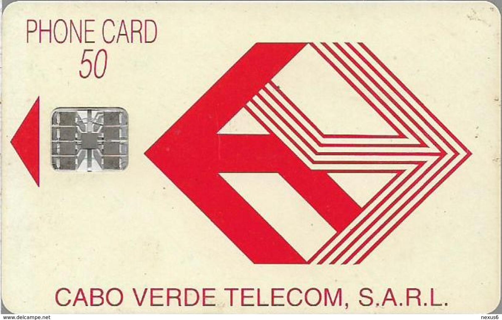 Cabo Verde - Cabo Verde Telecom - Red Logo (Cn. C59152672 Orange) 09.1995, 50U, SC7, Used - Cabo Verde