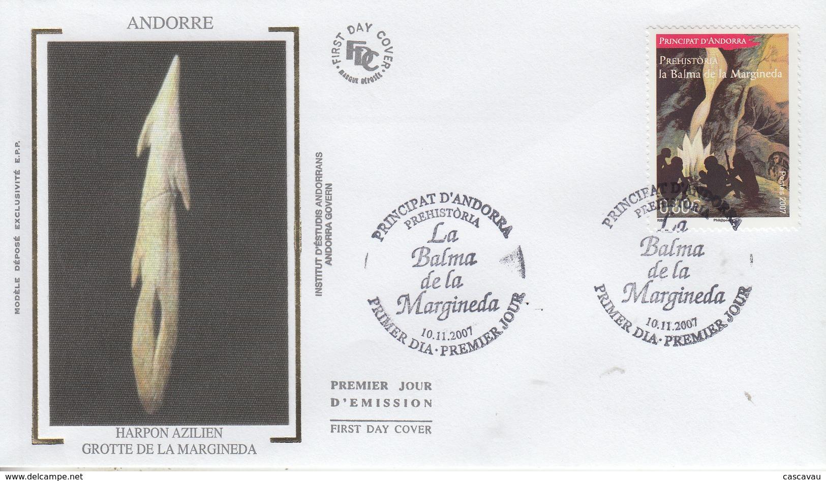 Enveloppe  FDC  1er  Jour  ANDORRE   Préhistoire   2007 - FDC