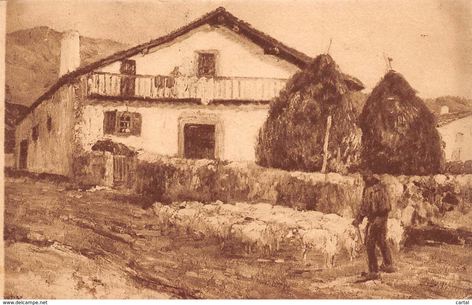 64 - PAYS BASQUE - Ferme Basque à Ossès - D'après Une Peinture De Floutier - France