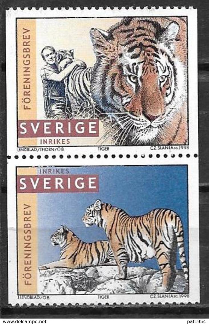 Suède 1998 2017/2018 Neufs Tigres - Neufs