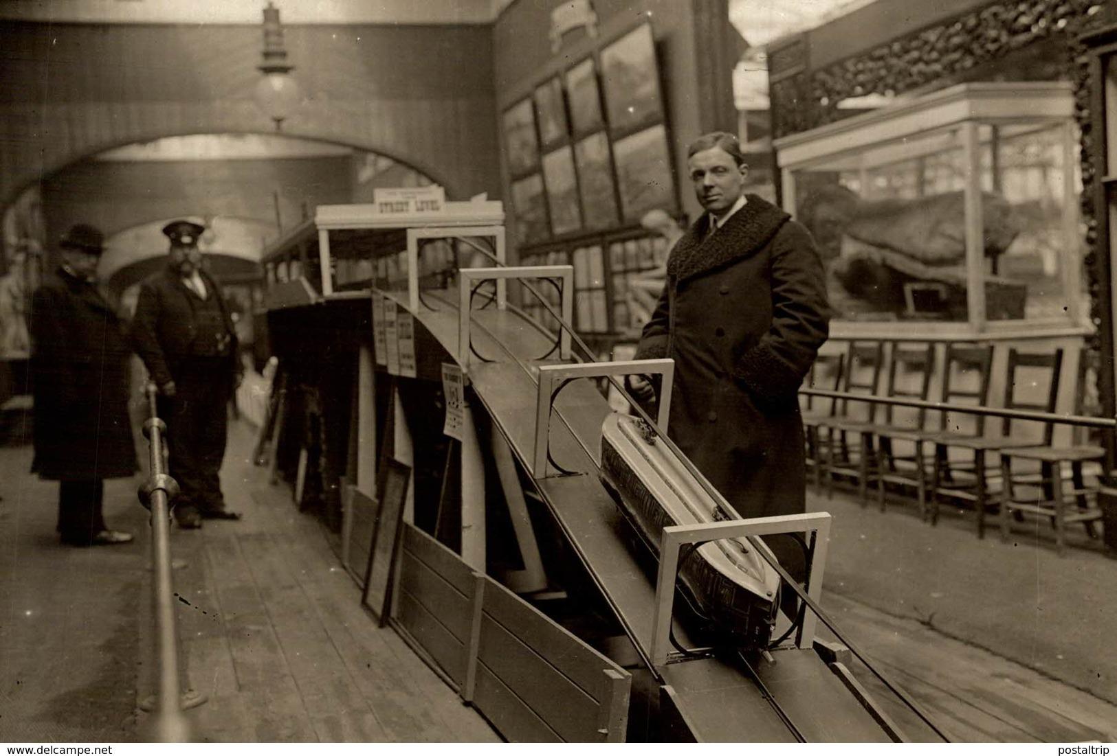 DEMONSTRATION AT CRYSTAL PALACE KEARNY SINGLE TUBE RAILWAY CHEMIN DE FER EISENBAHN 15*11CM Fonds Victor FORBIN 1864-1947 - Trains