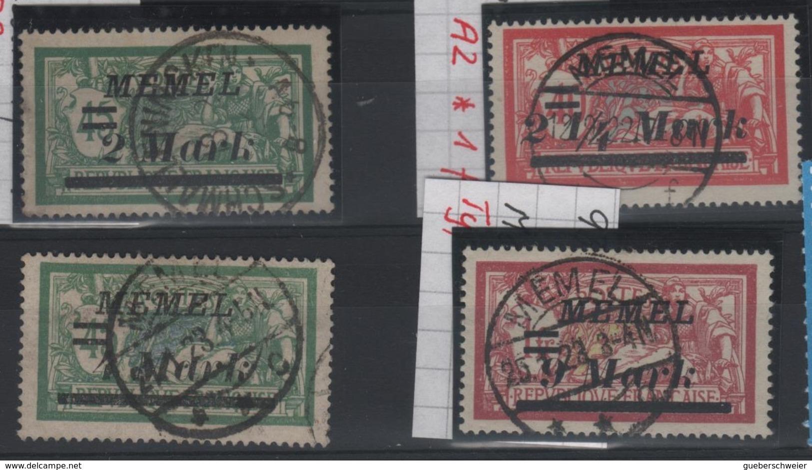 MEM 75 - MEMEL Merson N° 69-70-72-74 Oblitérés Avec Belles Oblitérations Centrales - Memel (1920-1924)