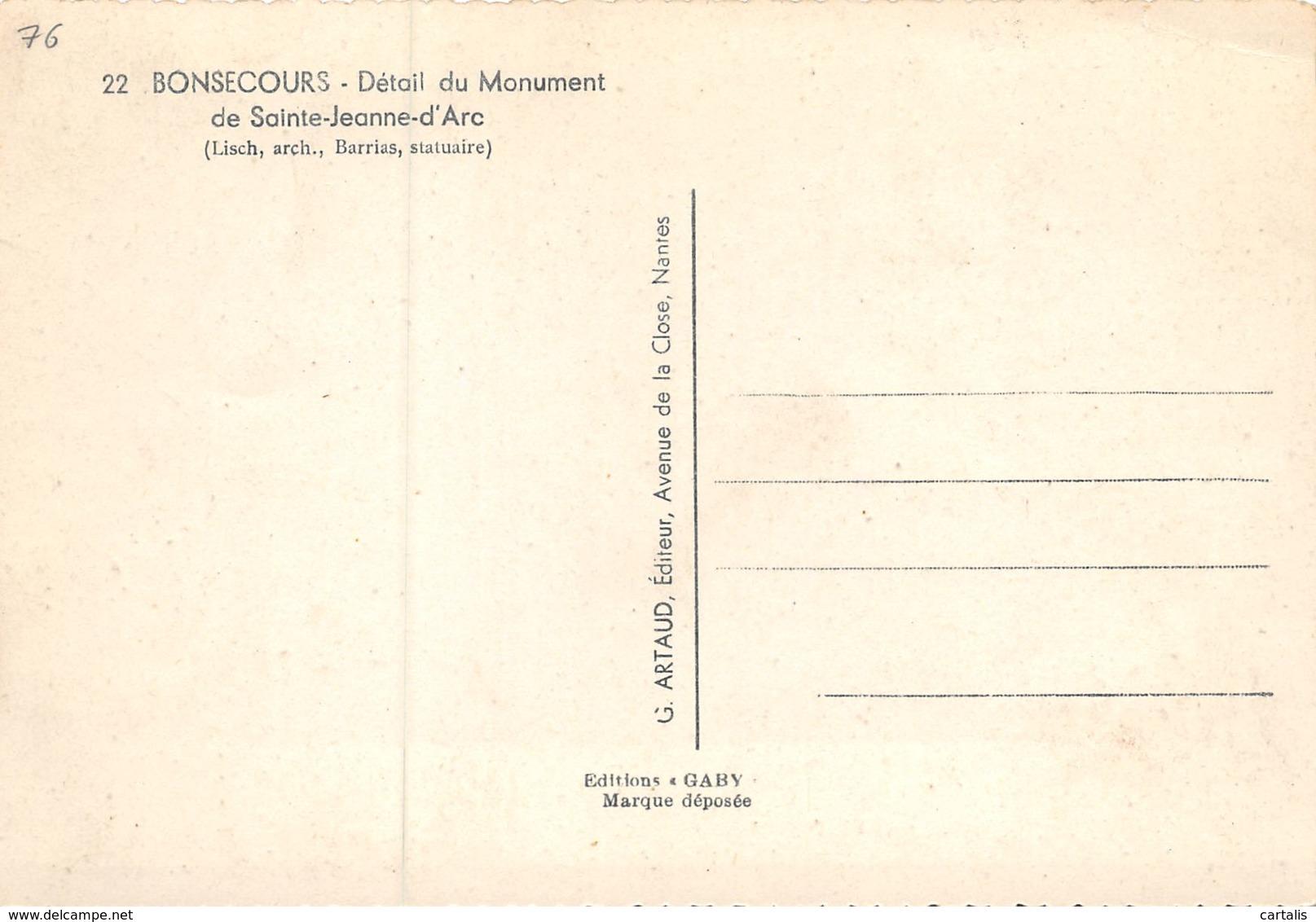 76-BONSECOURS-N°C-3305-A/0223 - Bonsecours