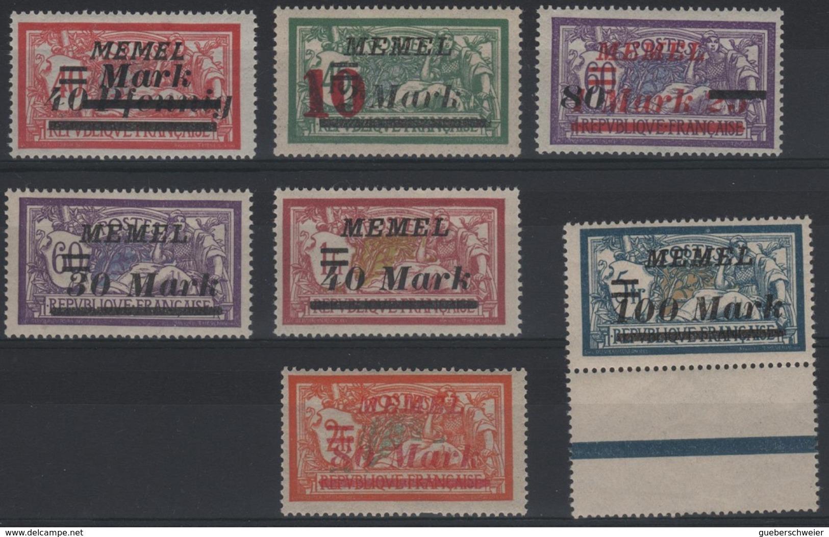 MEM80 - MEMEL Merson N° 82-84-85 + 91/94 Neuf** - Memel (1920-1924)