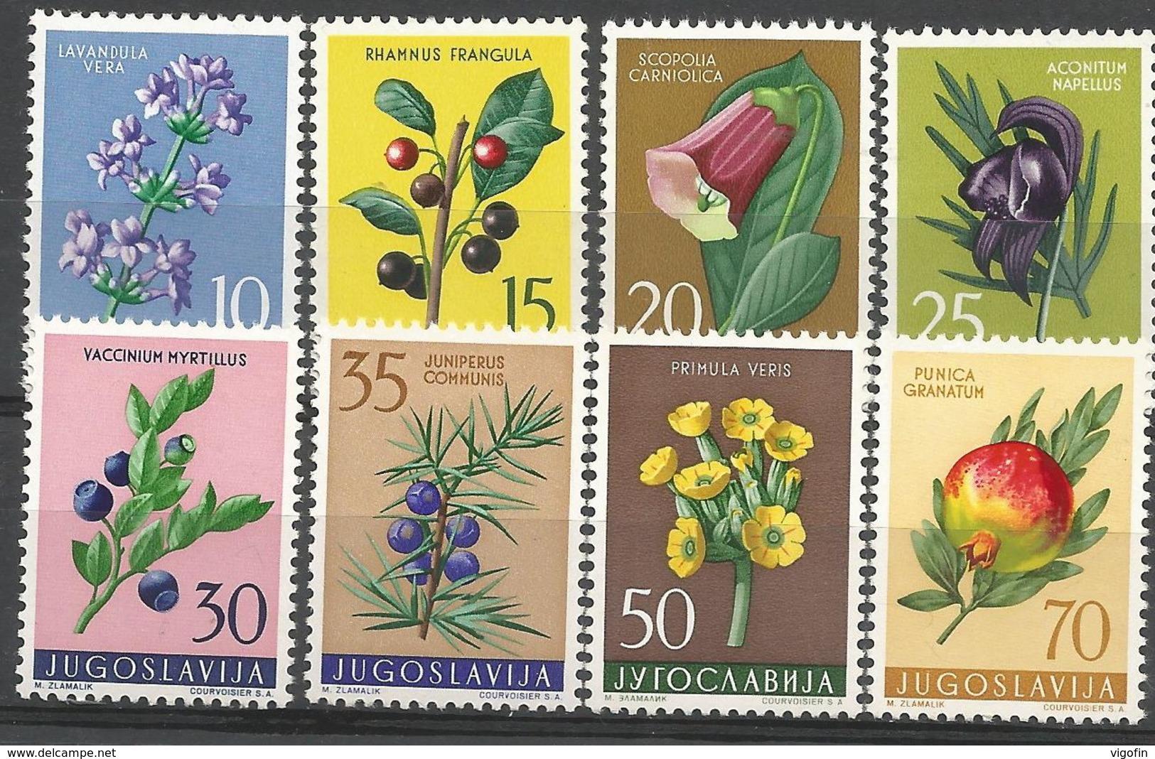 YU 1959-882-9 FLOWERS, YUGOSLAVIA, 1 X 8v , MNH - 1945-1992 Repubblica Socialista Federale Di Jugoslavia