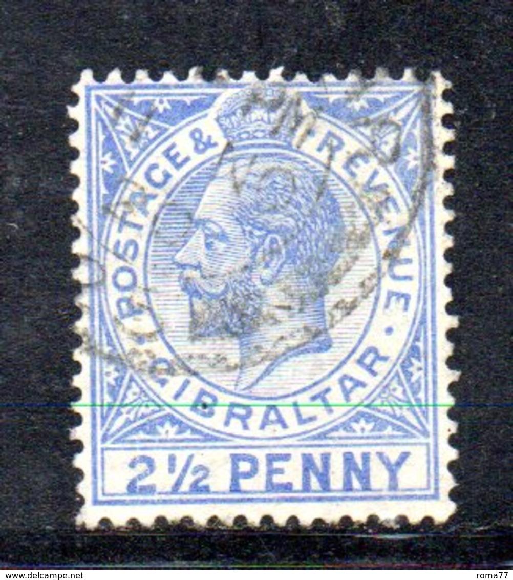 APR2151 - GIBILTERRA 1912 , Unificato N. 66a  Usato  (2380A) . MultiCA .  Cifra 2 Più Grande - Gibilterra