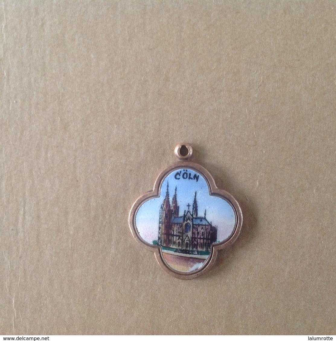 Med. 8. Medaille En Laiton émaillée De Cologne. - Duitsland