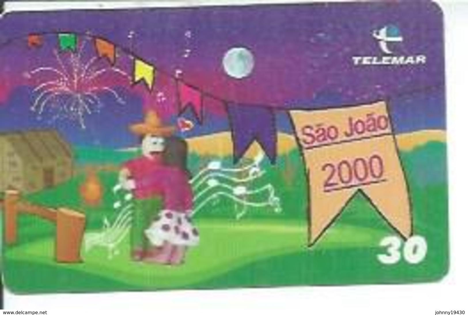 TELEMAR 30 - SÄO JOÄO 2000   - BRESIL 06/2000 - Brésil