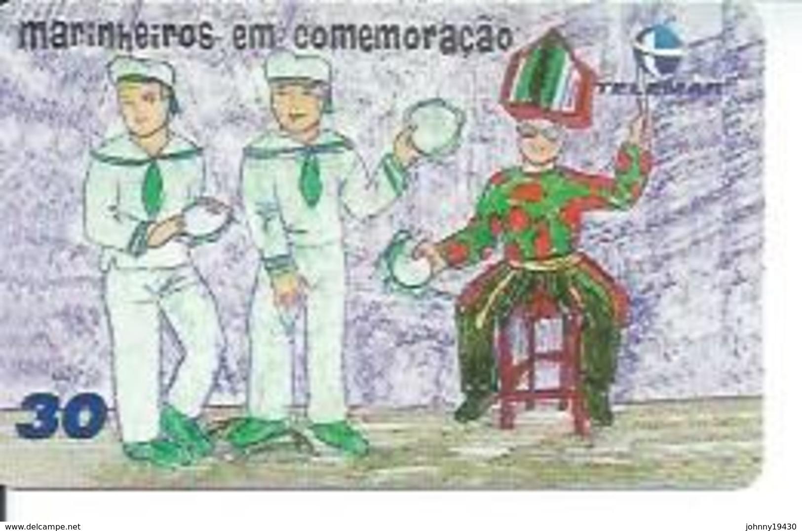 TELEMAR 30 - MARINHEIROS EM COMEMORACAO   - BRESIL 03/2001 - Brésil